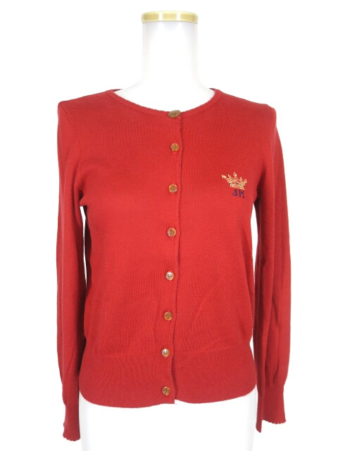 Jane Marple 王冠刺繍入りカーディガン