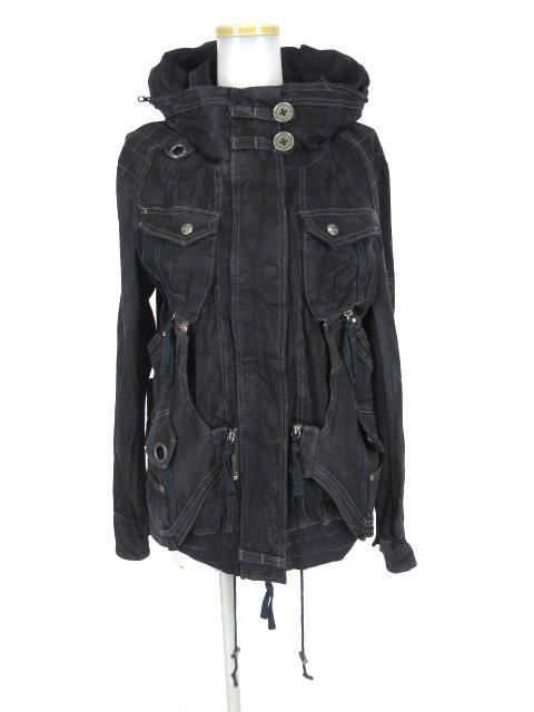 Ozz Croce 袖刺繍入りUSED加工ジップアップミリタリージャケット