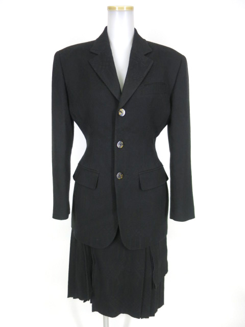 Jean Paul GAULTIER FEMME ジャガード織りジャケット&スカート セットアップ