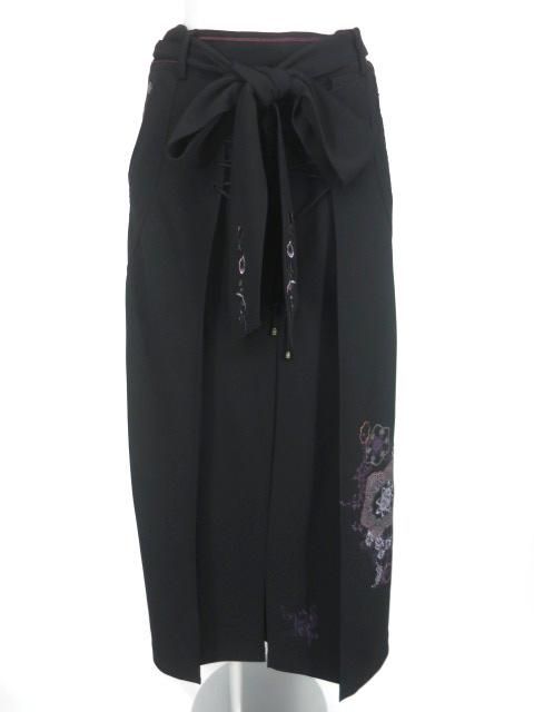OZZ ONESTE 編み上げ付きプリーツロングスカート