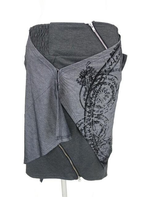 OZZ ONESTE シャツ巻き風レイヤードスカート