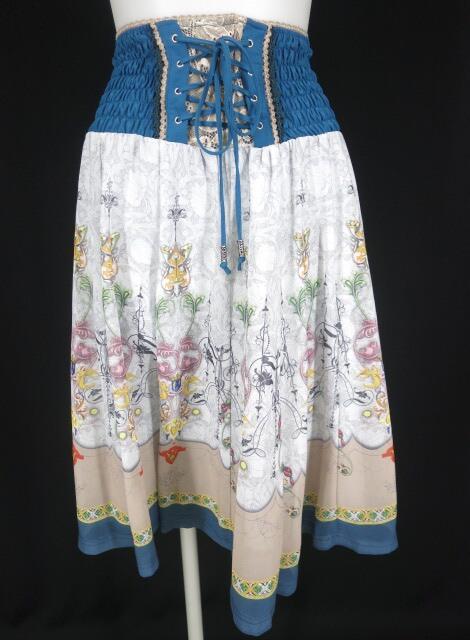 Rozen Kavalier スカーフ柄シフォンスカート