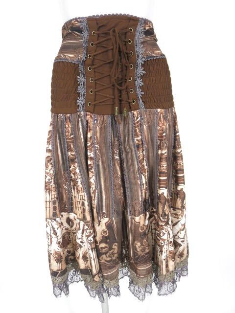 OZZ ANGELO 総柄2wayスカート