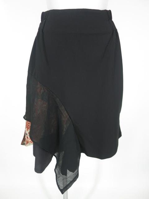 gouk 和柄プリーツ付きアシンメトリースカート