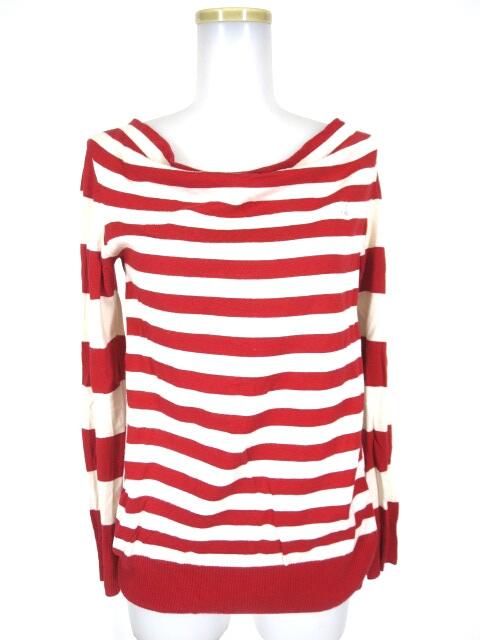 Vivienne Westwood RED LABEL オーブ刺繍入りボーダー柄ニットセーター