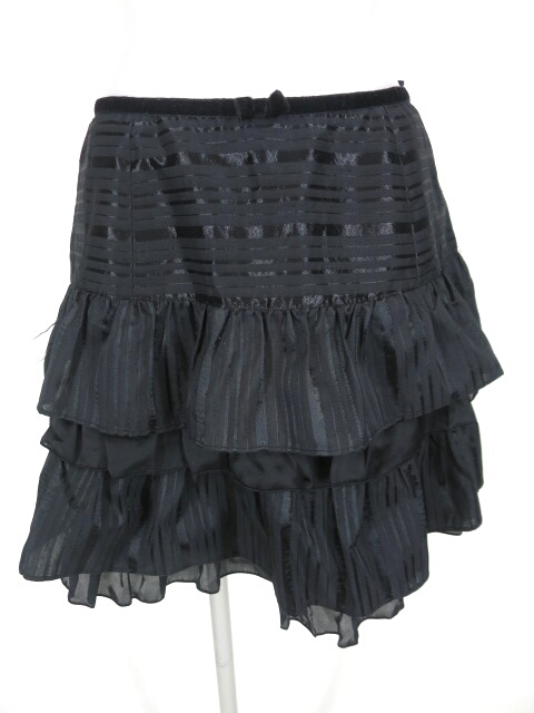 Emily Temple cute ジャガードストライプフリルスカート