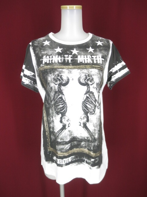 Ozz Croce 骸骨額縁プリント半袖Tシャツ