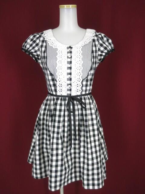 MILK ギンガムチェック マーガレットドレス