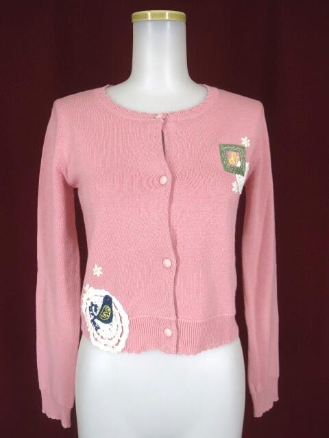 Shirley Temple レース ことり 刺繍 カーディガン