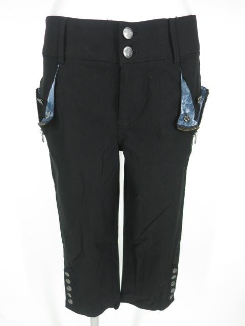 Ozz Croce 裾ボタン付き七分丈パンツ