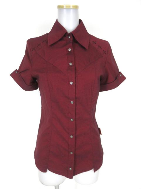 Ozz Croce クロス刺繍半袖シャツ