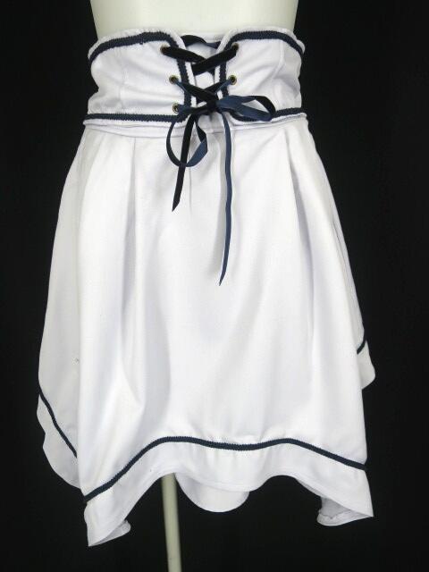 axes femme POETIQUE ハイウエスト刺繍スカート