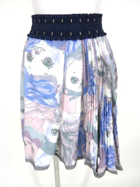 achachum 巻き毛ネコptスカート