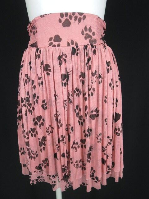 Hysteric Glamour 肉球柄メッシュチュールスカート