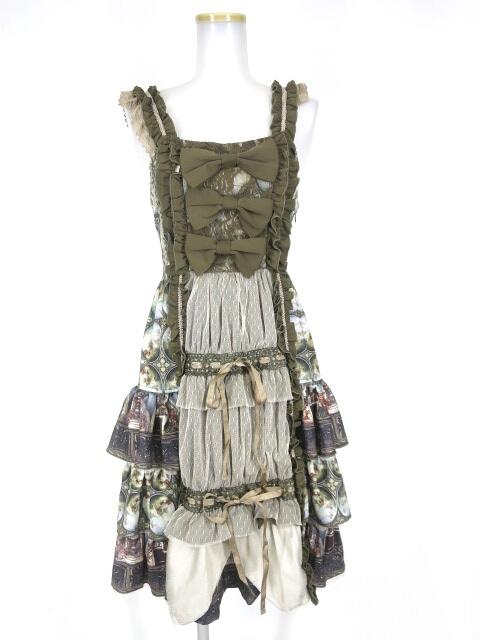 OZZ ONESTE 天使柄フリルジャンパースカート