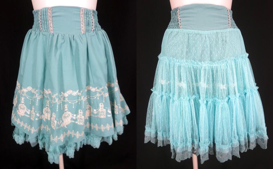 OZZ ONESTE 香水瓶柄リバーシブルスカート