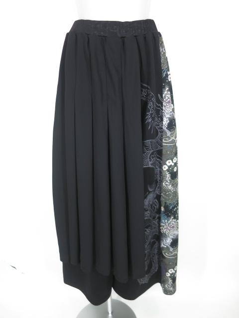 Qutie Frash オーバースカート付きハカマワイドパンツ