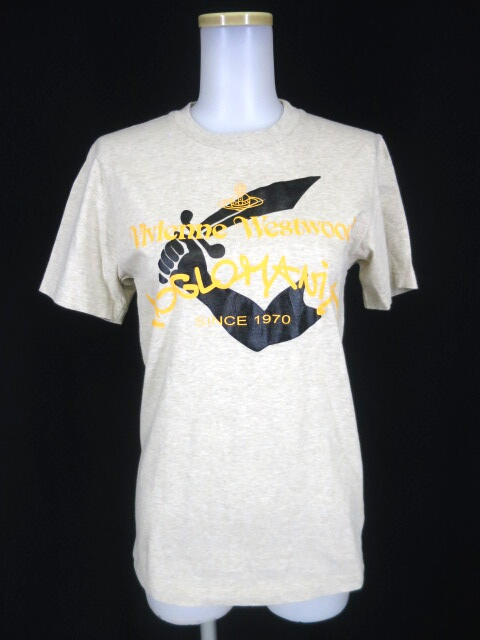 Vivienne Westwood ANGLOMANIA ロゴ&短剣プリントTシャツ