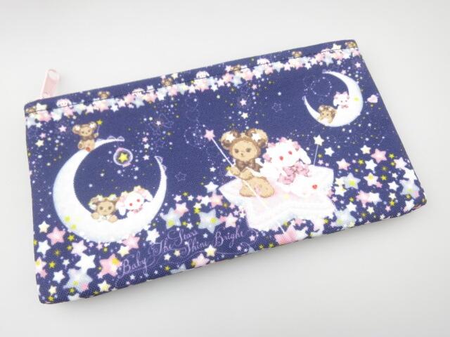 BABY, THE STARS SHINE BRIGHT くみゃちゃんのキラキラ☆Milky Way柄ミニポーチ