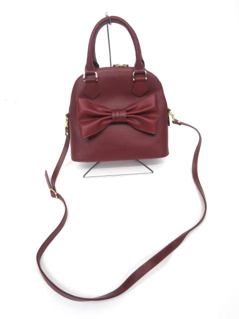 Jane Marple リボンモチーフのミニボストンバッグ