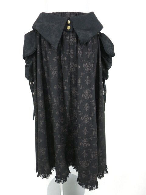 h.NAOTO STEAM ウエストポーチ付きロングスカート