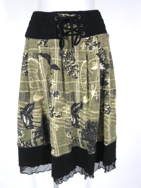 OZZ ONESTE 和柄ニット2wayスカート