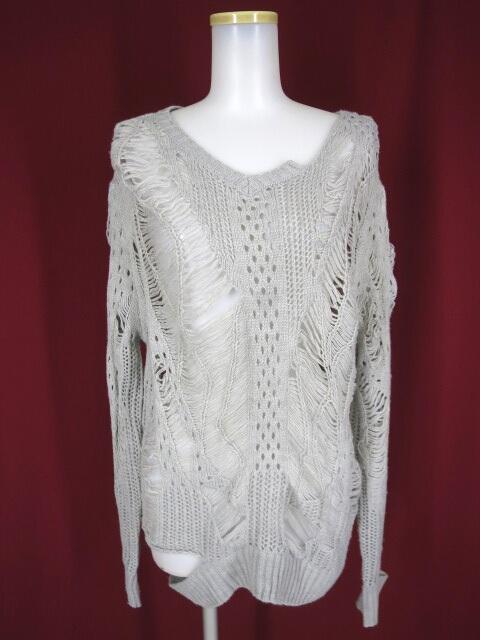 Ozz Croce 透かし編みニットセーター