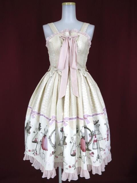Metamorphose Lace up dollあみあげジャンパースカート&ヘッドドレス