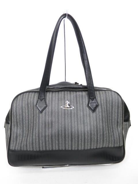 Vivienne Westwood ストライプボストンバッグ