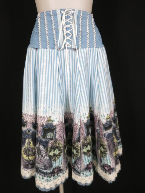 OZZ ONESTE トルソー&薔薇柄ストライプ2wayスカート