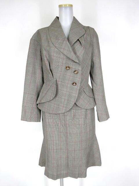 Vivienne Westwood RED LABEL グレンチェック柄ウィンディベッティーナジャケット+スカート セットアップ