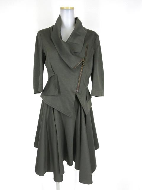 Vivienne Westwood RED LABEL アシンメトリー七分袖ジップジャケット+スカート