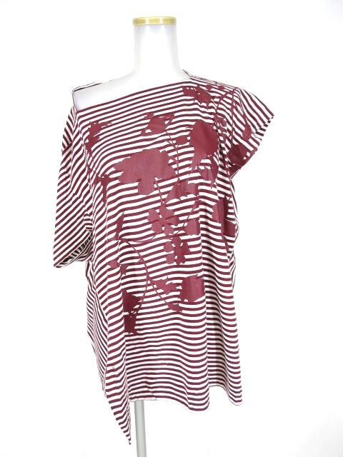 Vivienne Westwood RED LABEL オーブ草木シルエット柄アシンメトリーカットソー