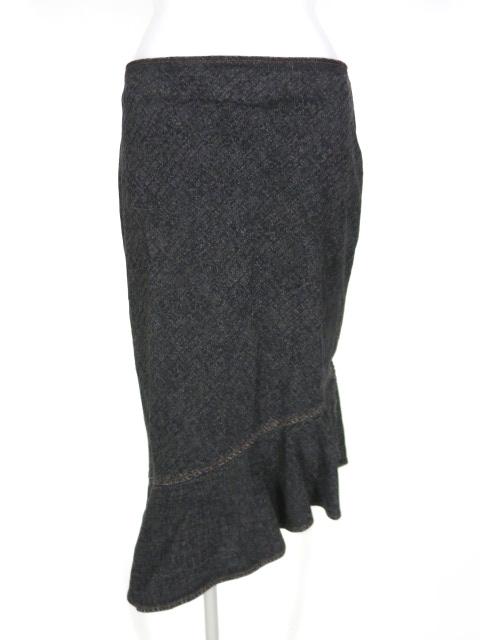 JPG ステッチ刺繍デニムアシンメトリーマーメイドスカート