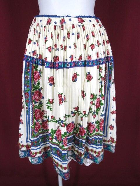 Jane Marple チロリアンローズ柄ギャザープリーツスカート