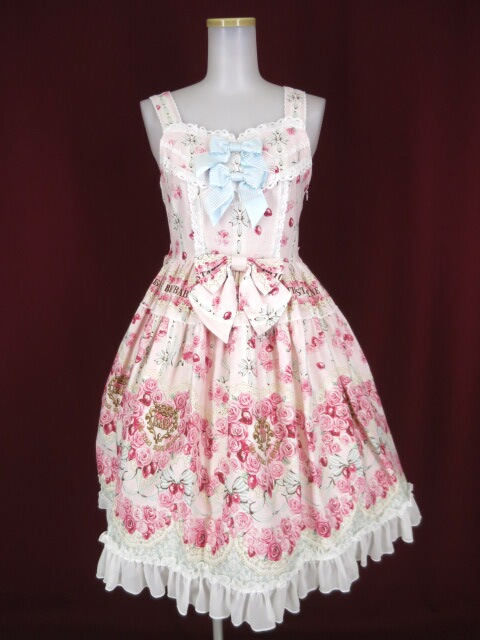 BABY, THE STARS SHINE BRIGHT Le Bouquet Eternel 柄ジャンパースカートI型&ハーフボンネット