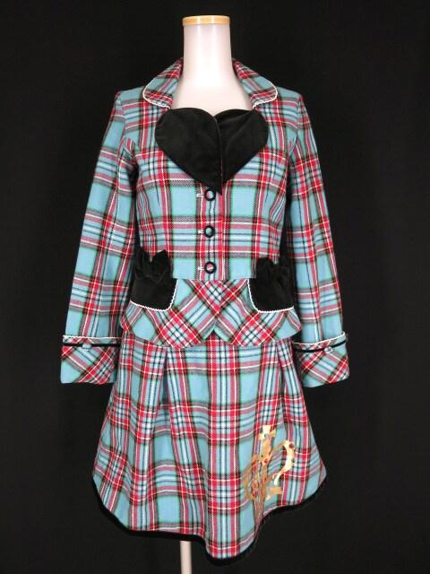 Shirley Temple タータンチェック ラブジャケット&スカート スーツ