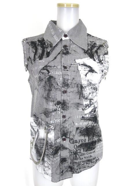 h.ANARCHY ノースリーブチェックシャツ