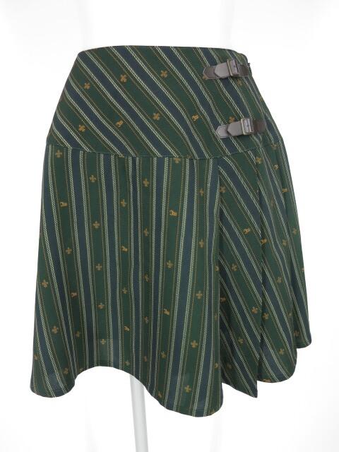 Innocent World ユリ紋章レジメンタルストライプスカート