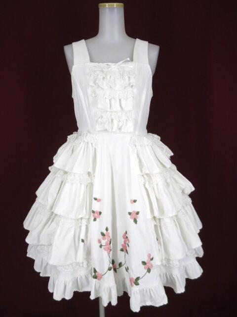 BABY, the STARS SHINE BRIGHT 薔薇のリボン刺繍別珍ジャンパースカート