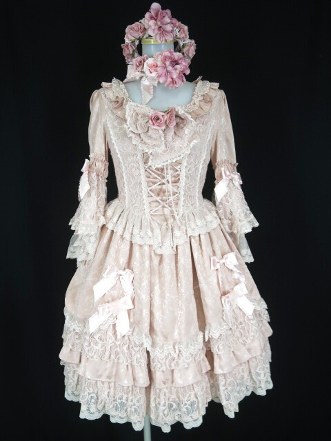 BABY, the STARS SHINE BRIGHT 眠れる森の美女 ワンピースドレス&チョーカー&ローズ花冠 セット