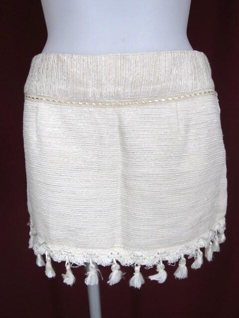 alice auaa フリンジ付きミニスカート
