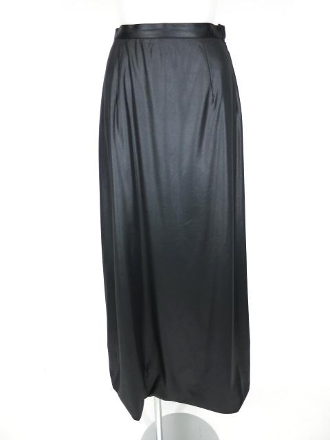 MIHO MATSUDA レース付きシャイニーロングスカート