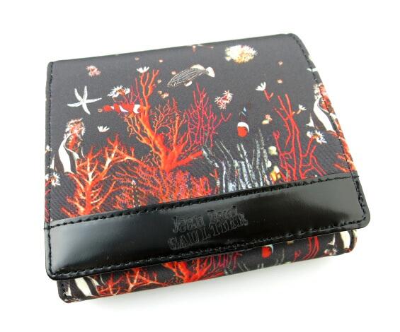 Jean Paul GAULTIER 熱帯魚柄がま口折り財布