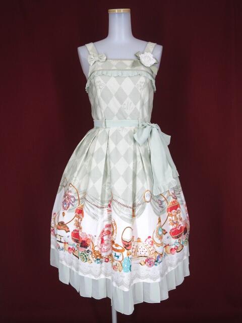 Metamorphose エッグアートジャンパースカート&ヘッドドレス&ボンネット&リボンバレッタ セット