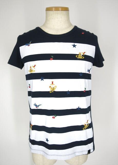 Vivienne Westwood ANGLOMANIA 刺繍入りボーダーTシャツ