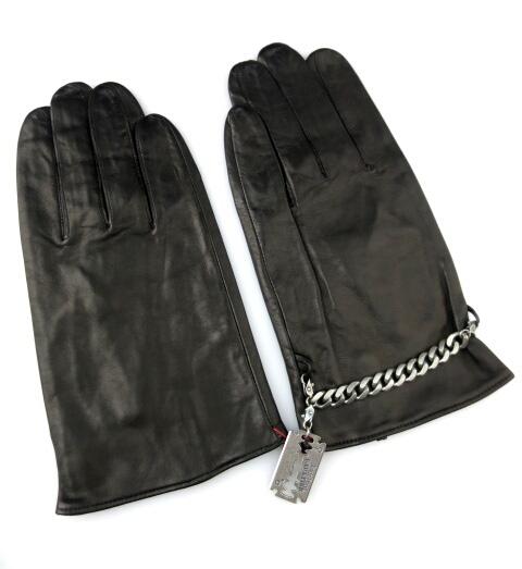 Jean's Paul GAULTIER カミソリチャーム付きレザー手袋