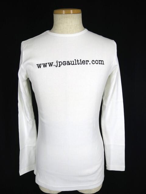 Jean Paul GAULTIER HOMME アドレス刺繍長袖Tシャツ