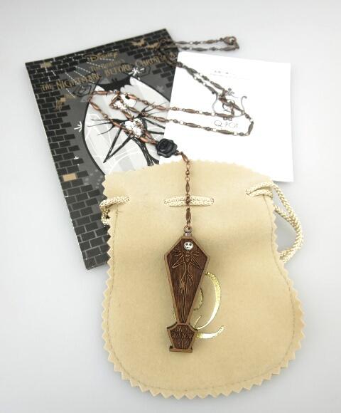 Q-pot.×Disney 『ナイトメアー・ビフォア・クリスマス』Jack/Coffin Necklace