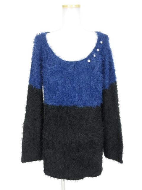 SEX POT バイカラーニットセーター